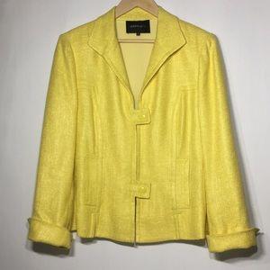 Lafayette 148 New York yellow pocket lined blazer